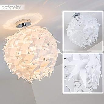 Extravagante Deckenleuchte in Weiß – Designer Leuchte Dokkas aus Metall –  Wohnzimmer Deckenlampe sehr auffällig – geeignet für LED – ...