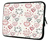 Snoogg Abstract Hearts White Pattern 12