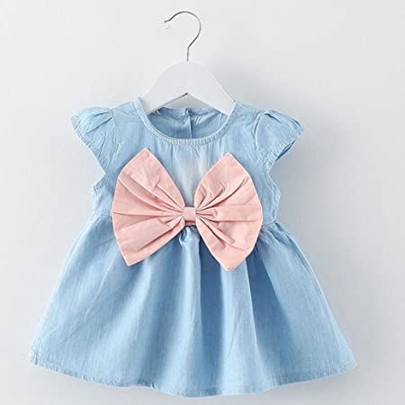 Amazon.com: Feitong Toddler Infant Kids Baby Girls Summer Dress Princess Party Wedding Bow Dresses: Baby