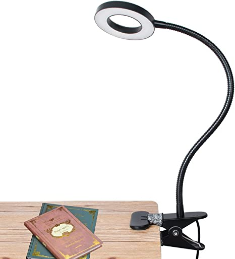 LED USB ClipReading Light Headboard-Eye Care Desk Lamp Clamp US Adapter Included