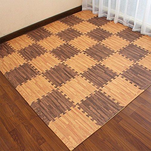 The Emulation flooring foam rollmat large stitching woodgrain Sponge Pad Home Child Foam Puzzle Mats ,30301.2 CM, light by TDLC (Image #1)