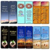 Creanoso Inspirational Bookmarks (60-Pack) - Kindness Quotes - Positive Motivational Self Help Bookmarker Card - Best Encouragement Set