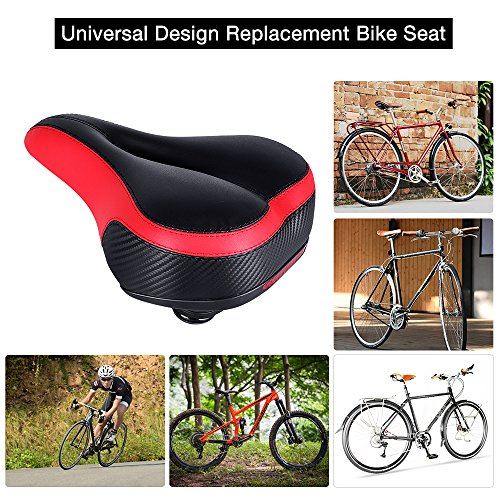 Bike Seat Replacement with Bicycle Taillight Most Comfortable Bicycle Seat