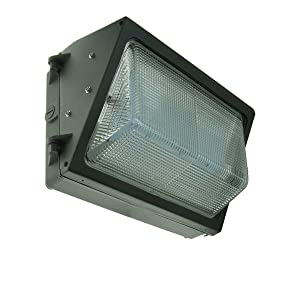 120-277V Forward throw LED wall pack light 40 watts 4843 lumens DLC and ETL with 5 Year Warranty. LED wall pack for outdoor wall and area lighting.