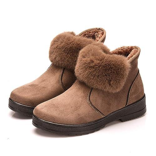 Botas para Mujer Zapatos de Nieve Botines Invierno Moda Zapatos Nieve Piel Forradas Calientes Anti Deslizante Zapatos 34-40: Amazon.es: Zapatos y ...