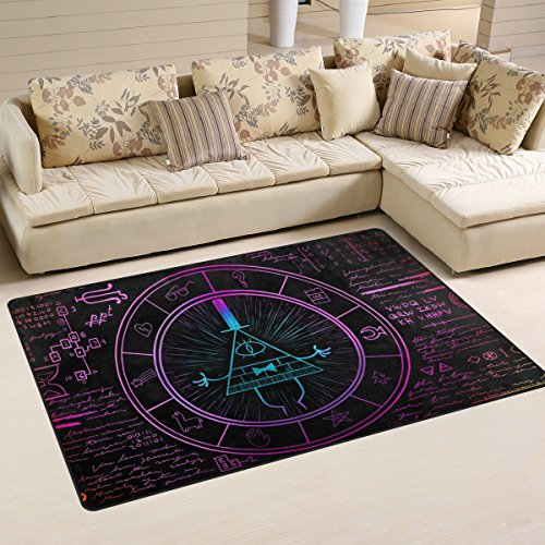 (DEYYA Bill Cipher Wheel Zodiac Pattern Area Rug Carpet Non-Slip Floor Mat Doormats for Living Room Bedroom 3'x5' )