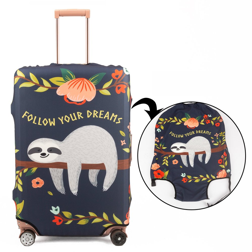 Madifennina Spandex Travel Luggage Protector Suitcase Cover Fit 23-32 Inch Luggage (sloth, XL) by Madifennina (Image #2)