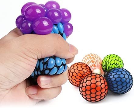 Zhuotop Bola de uva antiestrés de malla para aliviar la tensión ...