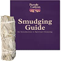 Purple Canyon White Sage Bundle - (1 Pack) - Sage Smudge Stick for Home Cleansing Incense Healing Meditation and California Smudge Sticks Rituals (4 Inch)