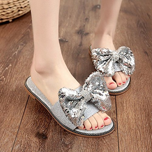 Coupe Bas D' WHLShoes femme Bow Chaussons Chaussons ng77IBf0