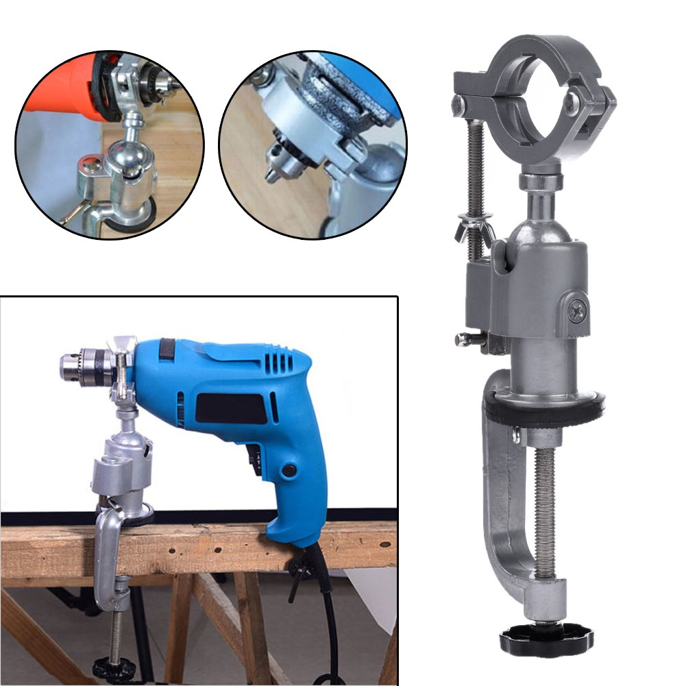 Dremel Rotary Tool Holder Dremel Grinder Stand Aluminum Miniature Small Clamp On Table Bench Vise Tool Accessory Electric Drill Holder Light Weight Drill Soft Shaft Workbench Clamp & eBook
