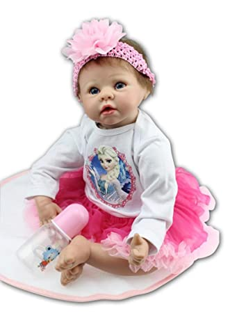 Amazon.com: ziyiui realista muñeca bebé de vinilo realista ...