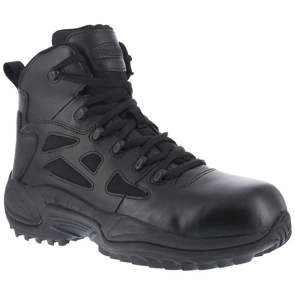 Reebok RB864 Women's Stealth Zipper Safety Boots - Black B00CX5SKK2 7 B(M) US|Black