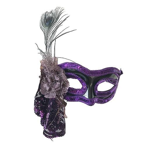 TONGSH Máscaras de Mascarada venecianas Disfraz de Carnaval con ...