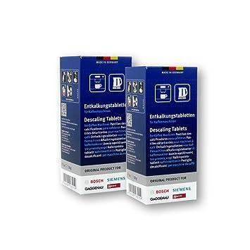 Bosch - Pastillas de descalcificación para cafetera y hervidor (2 paquetes con 6 pastillas cada uno): Amazon.es: Hogar
