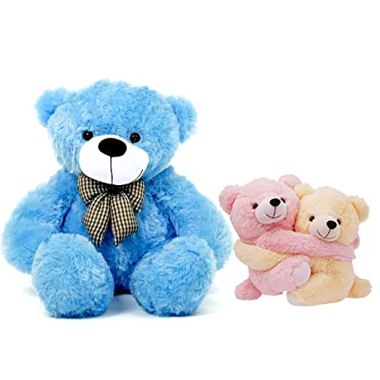 2294a6c55 Buy Growth Creation Combo of 5 Feet Teddy Bear   Stuff Love Pairs - 15 cm  (Pink