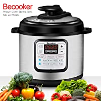 Becooker 11-in-1 Multi-Function Programmable Electric Pressure Cooker Stainless...