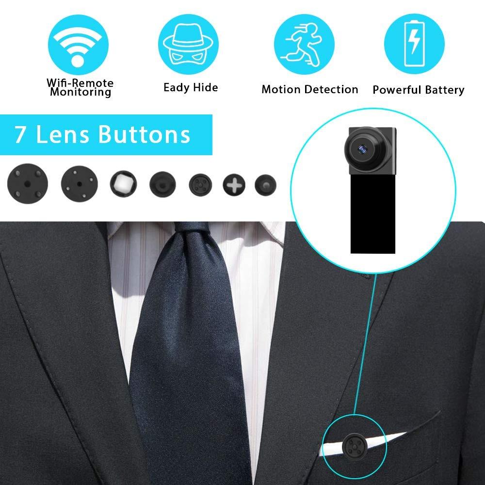WLAN Camaras de Seguridad Peque/ña Mini Camara Espia WiFi,1080P DIY C/ámara Oculta IP 2.4Ghz Vigilancia Port/átil Secreta Compacta con Detector de Movimiento