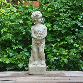 Figura Decorativa para jardín Creativo Carácter Retro Escultura De Arcilla Impermeable Estatua Del Jardín Del Césped Del Paisaje Para La Yarda Artesanía Decoración De Regalos - 11 * 10 * 39cm B: