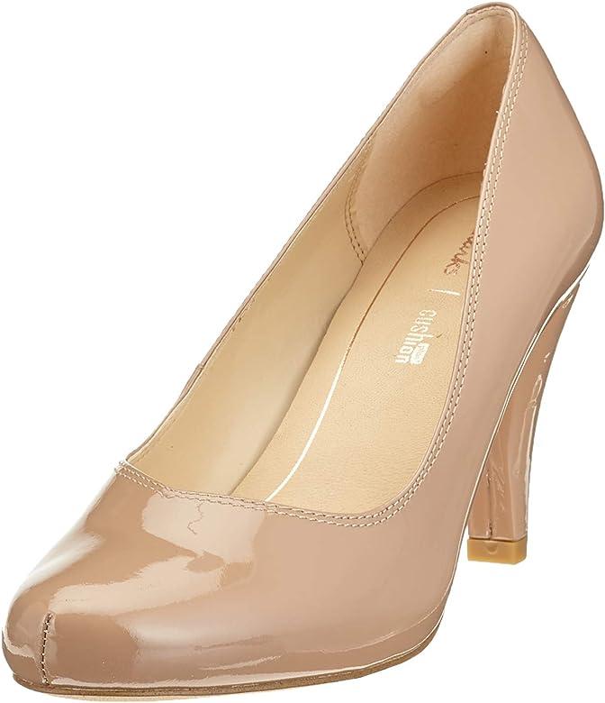 7c90d22d Clarks Dalia Rose, Zapatos de Tacón para Mujer, Beige (Nude Patent ...