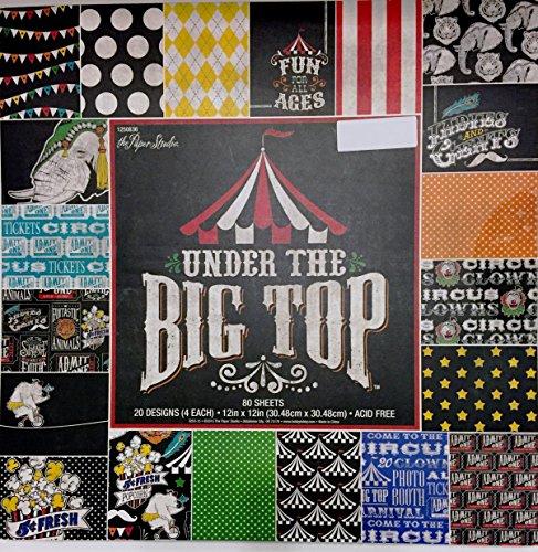 Under the Big Top 12X12 Scrapbooking Paper Pad, 80 sheets, Circus, Amusements,Tents, Elephants,Popcorn Fun Scrapbooking Paper