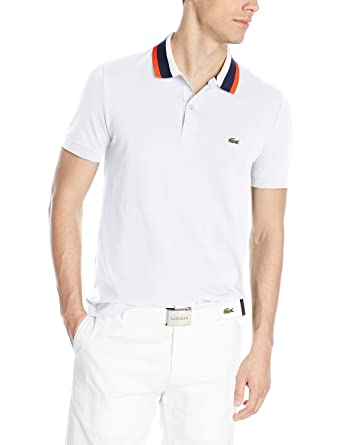 23fc87e2 Lacoste Men's Short Sleeve Mini Pique Regular Fit Polo Shirt