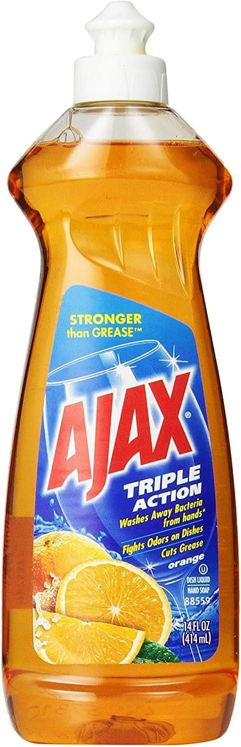 Ajax Triple Action Dish Liquid, Orange, 14 Fluid Ounce
