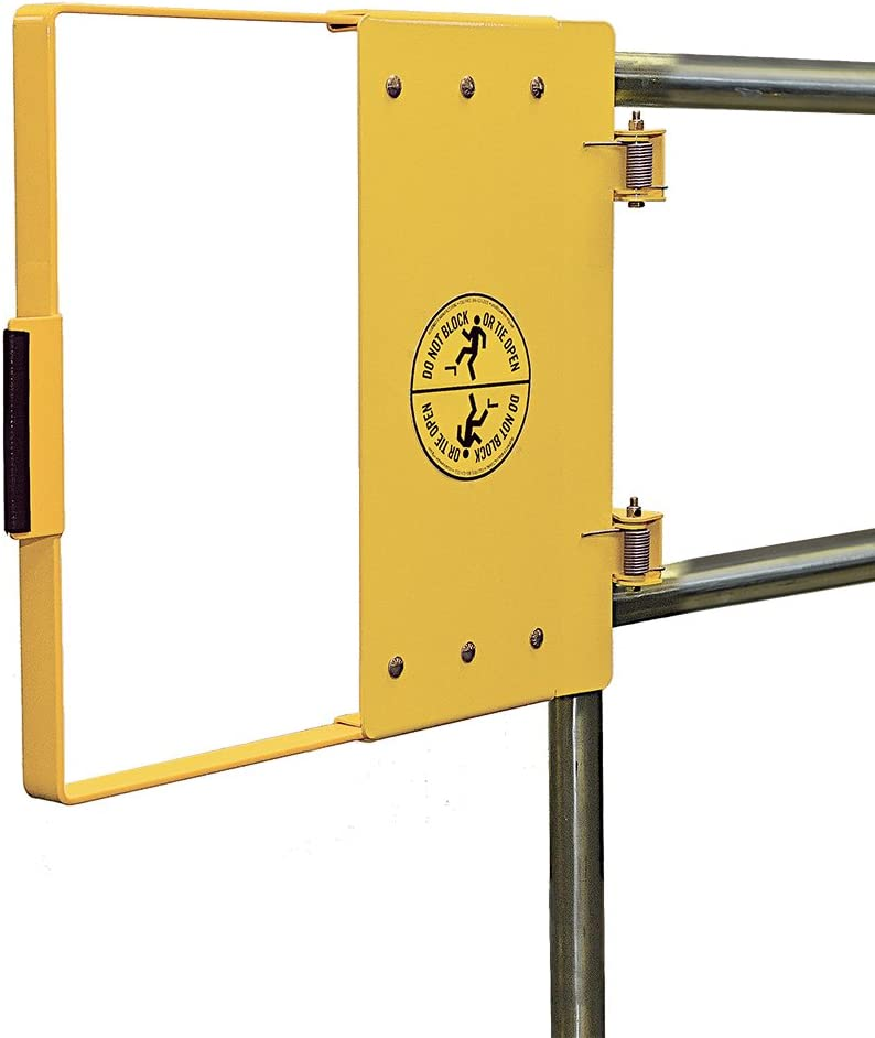 Fabenco R70-27PC Carbon Steel Yelow PowderCoat Clamp-on Self-closing Safety Gate