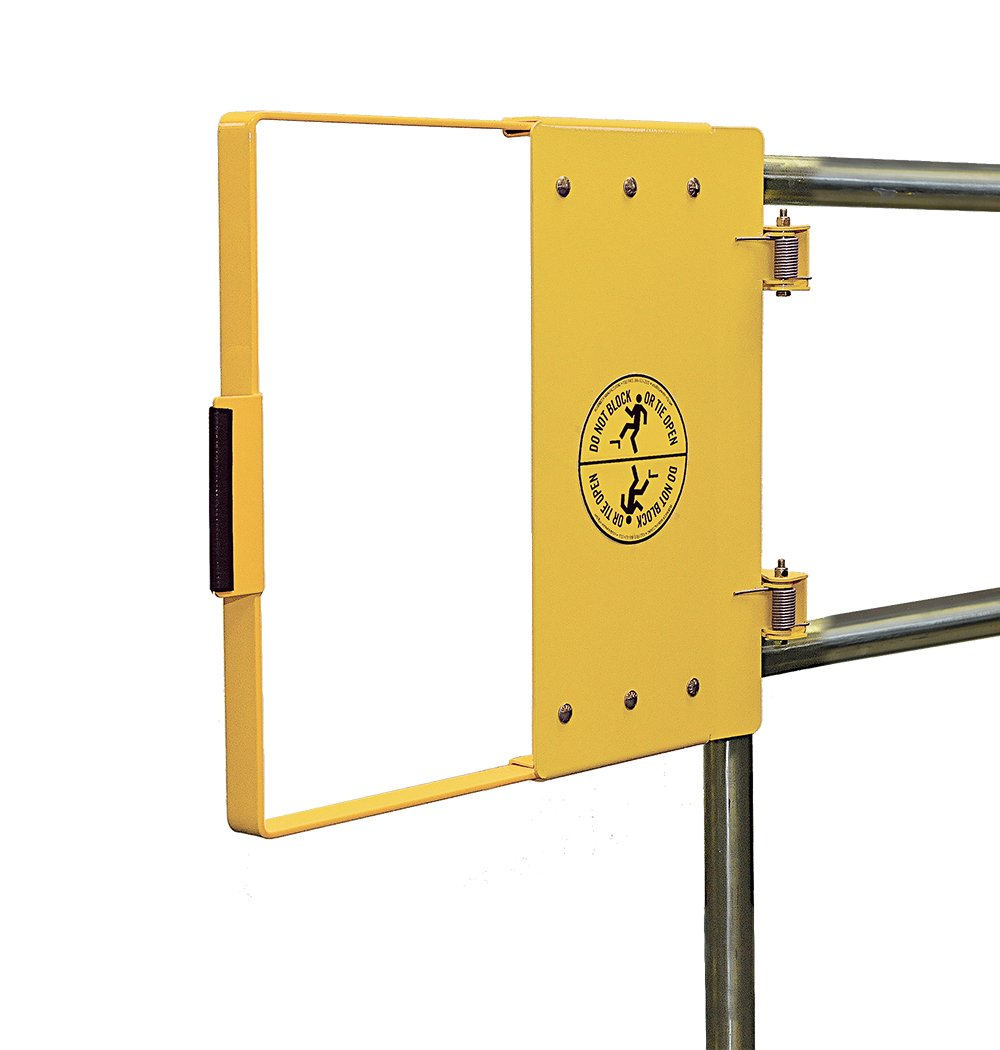 Fabenco G72-27PC G-Series The Universal Hinge Mount Safety Gate, A36 Carbon Steel with Yellow Powder Coat, 24-to-30-Inch x 22.5-Inch by Fabenco