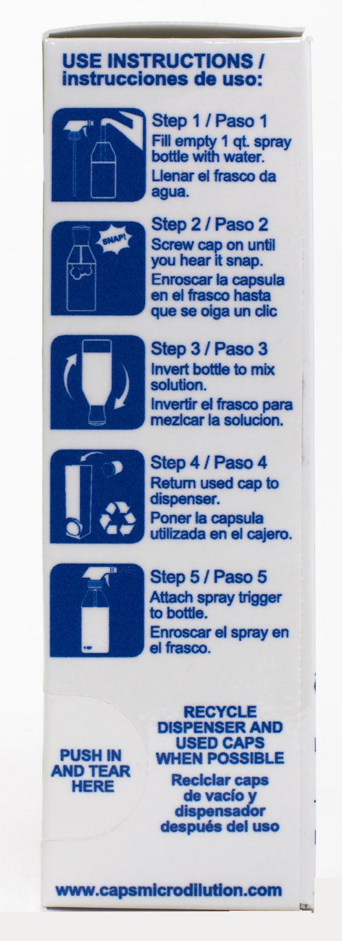 Contains Bottle, Spray Trigger & One 4-CAP Cartridge (Makes 4 Ready To Use Quarts): Amazon.com: Industrial & Scientific