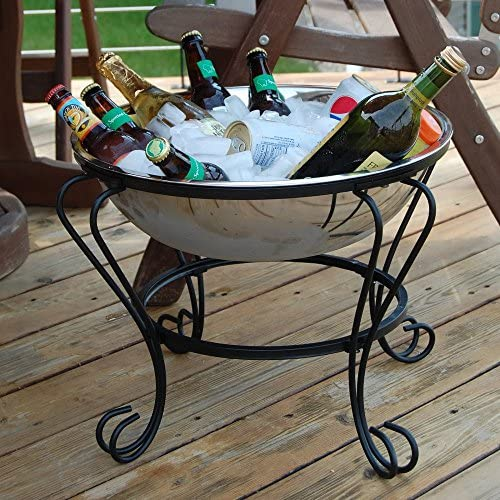 Unique Arts 18-Inch Stainless Steel Mini Fire Pit