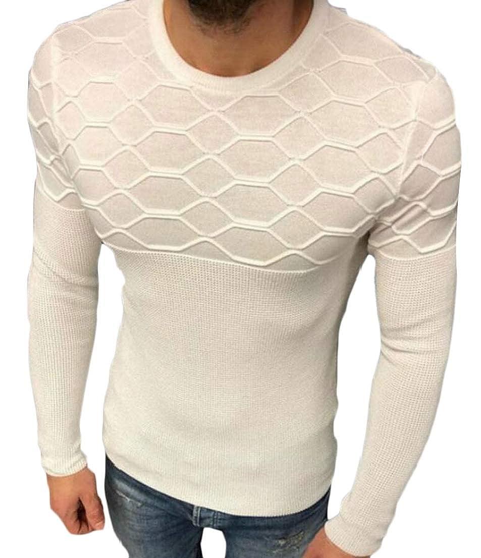 Alion Men Autumn Sweater Winter Pullover Slim Knitwear Outwear Blouse