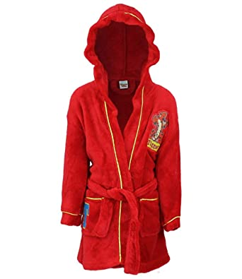 f29720ce227a Disney Winnie The Pooh Tigre Hooded Bathrobe Dressing Gown Red   Amazon.co.uk  Clothing
