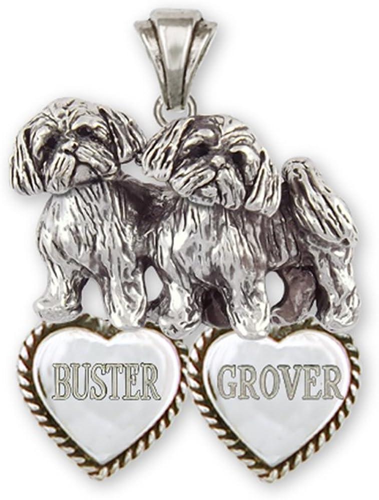 Shih Tzu Jewelry Sterling Silver Double Shih Tzu Bracelet Jewelry  SZ24-HB