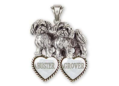 Amazoncom Shih Tzu Jewelry Sterling Silver Shih Tzu Personalized