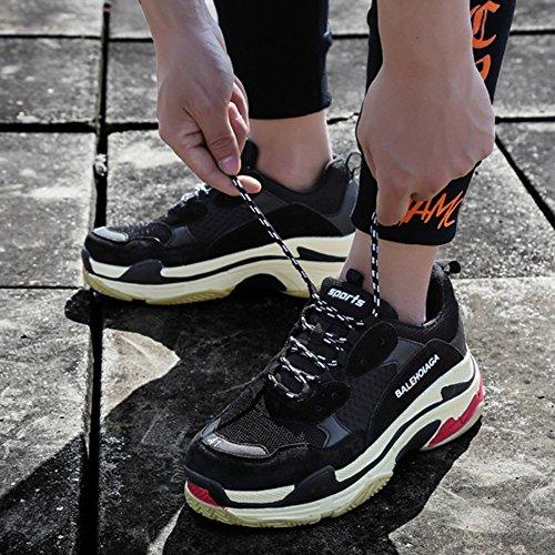 Sport Femmes Couple Hommes Légère Black Chaussures De En Retro Maille awtqO5ZX