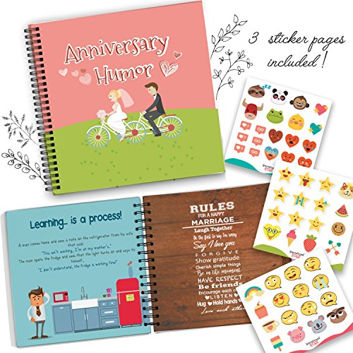 Wedding Anniversary Humor Book - A Hardcover Marriage Memory Book To Cherish Special And Funny Moments Lived Together With Your Spouse! Personalized & Unique Presents For Husband & Wife!