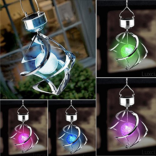 Solar Garden Galaxy Wind Spinner Light