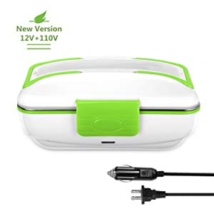 YOHOOLYO Electric Lunch Box Food Heater Warmer Portable for Both Car and Home Use with Removable Stainless Steel Container 12V and 110V …