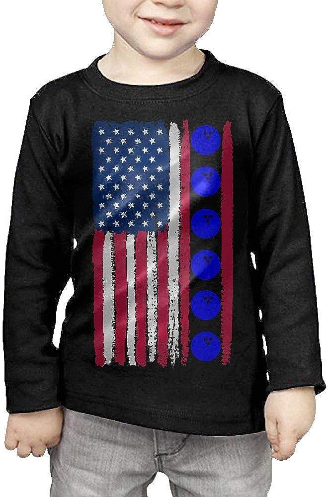 CERTONGCXTS Toddler USA Flag Bowling Ball1-1 ComfortSoft Long Sleeve Shirt