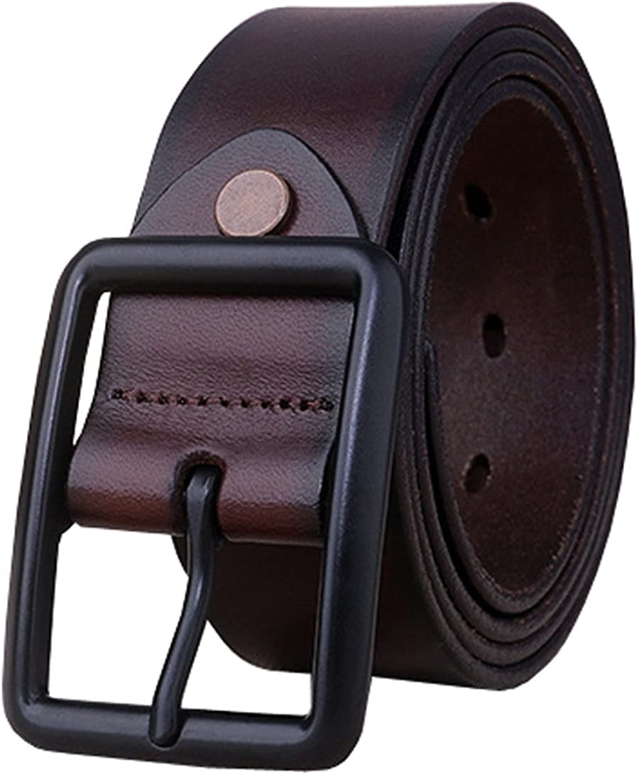 Capplue Mens Leather Belt Full Grain Leather Belt for Men Brown Black Coffee Color