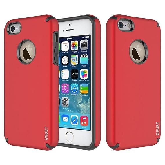quality design 691a2 e5369 Amazon.com: iPhone 5S Cover / iPhone SE Case, Crust Slim Armor Dual ...