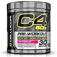 Cellucor C4 50x High Energy Pre Workout Supplement, Watermelon, 30 Count by Cellucor