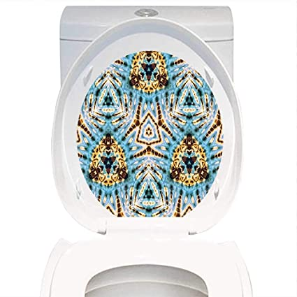 fb80b1b4c9dc Qianhe-Home Waterproof self-Adhesive Tie Dye Decor Tribal Stylized Trippy  Shapes with Dirt