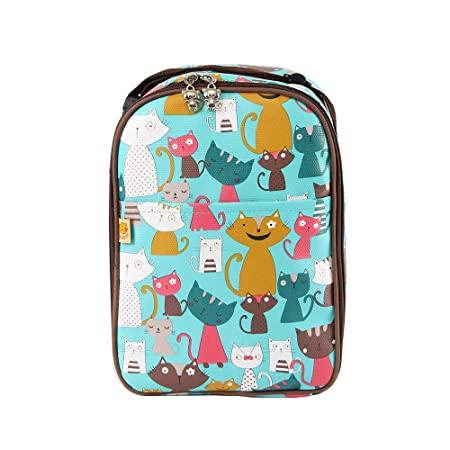 Lightweight Tote Insulated Cooler Bag Freezable Baby Bottle Bag with Zipper Closure