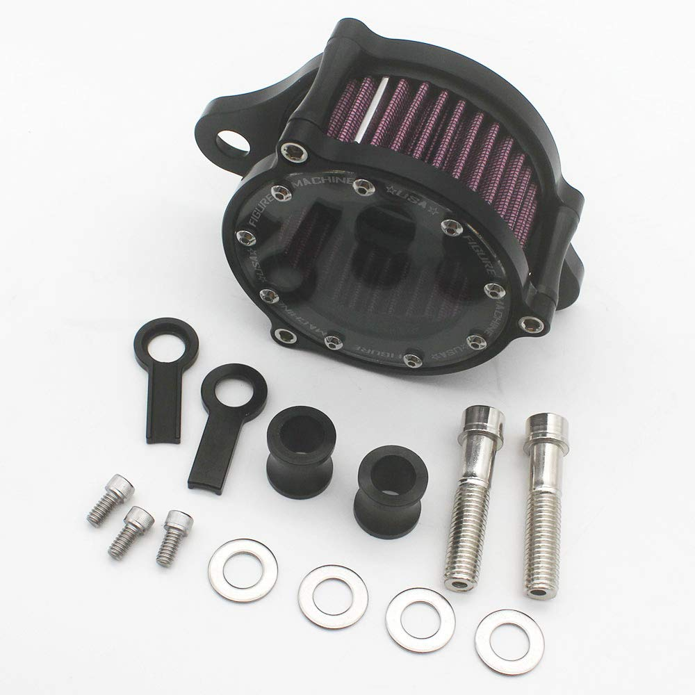 KIPA Air Cleaner Intake Filter System Kit For Harley Davidson Sportster XL883 XL883N XL883R XL883P XL1200 XL1200L XL1200X Iron 883 Forty Eight XL1200X 2004-2016 Billet Aluminum CNC Machined Washable by KIPA (Image #7)