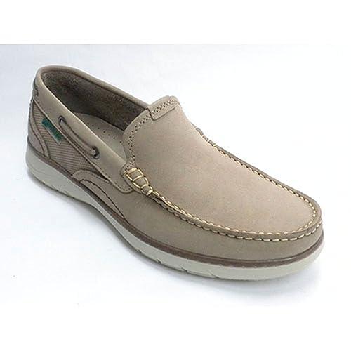 Zapato Hombre Tipo mocasín de Sport Pitillos en Taupe: Amazon.es: Zapatos y complementos