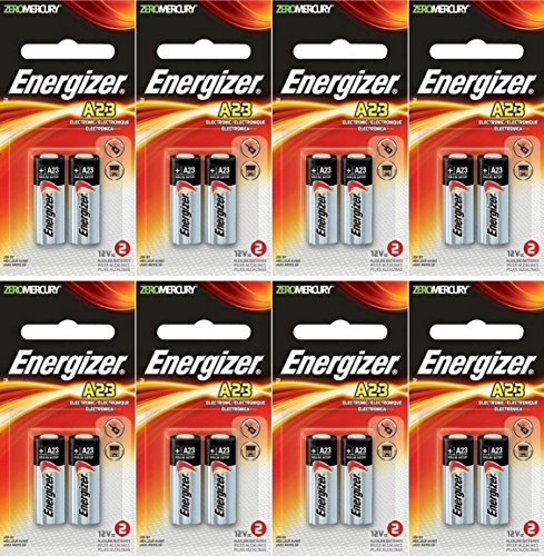 8 x Energizer 23A A23 12 Volt Alkaline Battery 2 on a Card, in original energizer Packaging