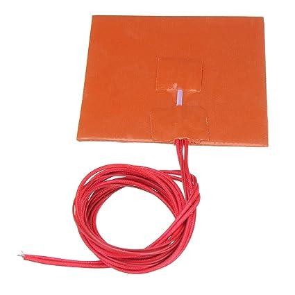 12V 100 * 100mm 50W silicona climatizada cama del cojín de ...