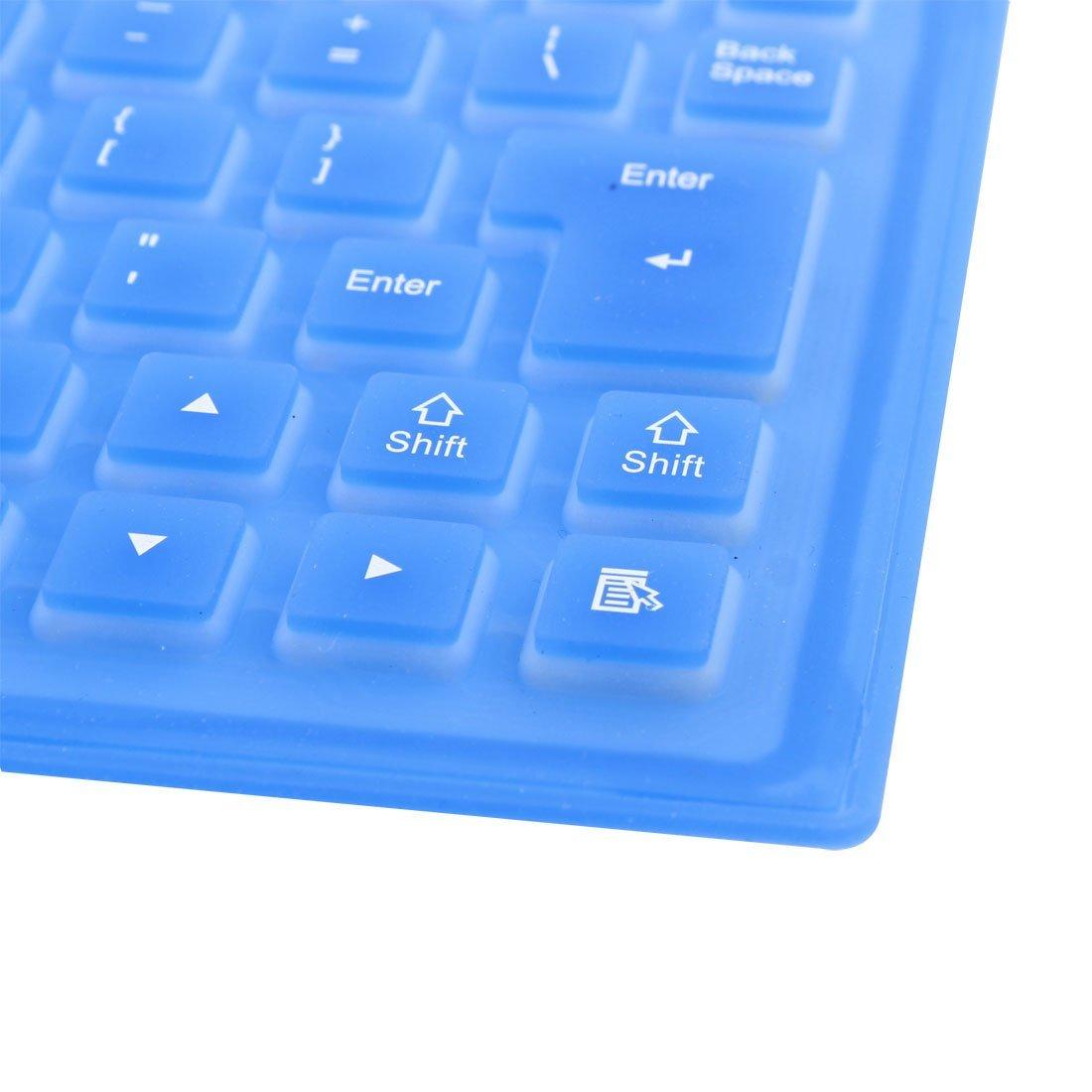 Amazon.com: eDealMax plegables Flexibles 85 Llaves USB Con Cable Enrolle teclado de silicona Azul Para el ordenador portátil PC portátil: Electronics